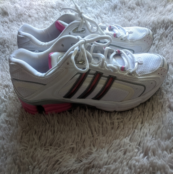 Vintage Adidas Adiprene Running Shoe Pink and Whit